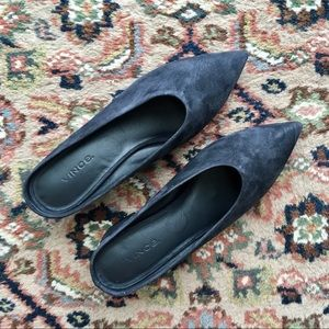 SOLD BNWOT VINCE Suede Pointed Mule Size 7